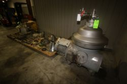 GEA Westfalia S/S Separator, Type RSA 60-01-076, S/N 1666867, with Leeson 20 hp Side Mounted