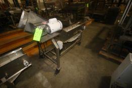 Marchant Schmidt Inc.S/S Incline Conveyor, with Cleated Belt, with Baldor 0.25 hp Motor, 115/220
