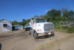 Ford AERO MAX L9000 Tractor, with Citation 5,600 Gal. S/S Tanker, M/N TI, S/N 7010, with Pump