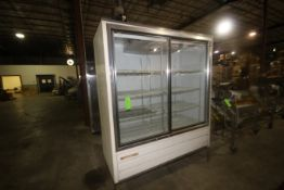 "Masterbilt Sliding Glass Refrigerator, M/N SMB580, 115 Volts, 1 Phase, Overall Dims.: Aprox. 71"" L x"