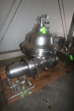 Westfalia S/S Separator, Type MSA 120-01-0/6, S/N 1657 985, Speed of Bowl 4500, Heavy Liquid g/c.