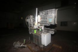 "T.D. Sawvel Automatic 8-Cup Rotary Cup Filler, M/N 135LD-TF, S/N 1382-98-007, with 3-1/2"" Dia. Cups,"