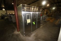 "Continental S/S 3-Door Refrigerator, Overall Dims.: Aprox. 80"" L x 36"" W x 82"" H (LOCATED IN"