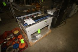 """Interpack Bottom Taper, with Roller Conveyor & Frame, with Aprox. 14-1/2"""" W Guides (LOCATED IN"""