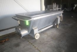 S/S Dual Auger Traugh, with Bottom Mounted S/S Dual Augers, with Drive Motor, Mounted on Portable