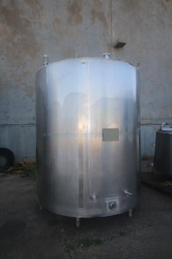Walker 2,000 Gal. S/S Vertical Processor, M/N PZ, S/N 3480, Jacket Heat 15 PSIG, MAWP @ 250 F,
