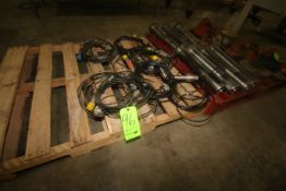 "Lot of Assorted Sprockets, with (7) S/S Drive Shafts, Aprox. 19"" L, with Assorted S/S Tank Probes ("
