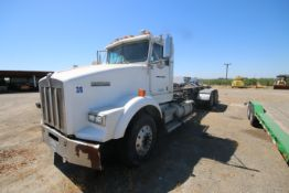 1996 Kenworth 3-Axle Roll-Off Straight Truck, VIN #: 1XKDDB9XOTS687107, with 24,722 Miles, License