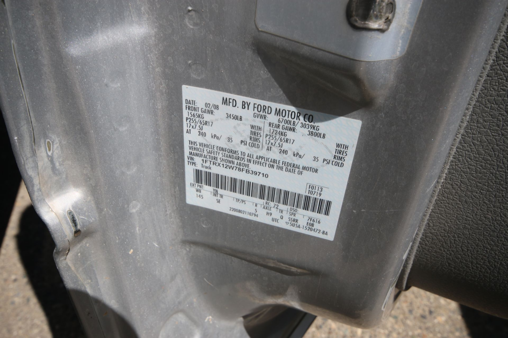 2008 Ford F150 Pick Up Truck, VIN #: 1FTRX12W7BFB9710, with 214,817 Miles, Started Up as of 06/24/ - Image 18 of 24