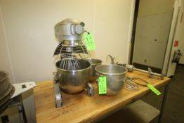 Hobart Counter Top Mixer, M/N A 200, S/N 11-376-471, 115 Volts, 1 Phase, with 1725 RPM Motor,