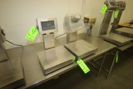 "Weigh-Tronix S/S Platform Scales, M/N QC-3265 & 3275, with Aprox. 13-1/2"" L x 12"" W S/S Platforms,"