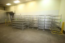 "S/S Wire Shelving Units, Overall Dims.: Aprox. 72"" L x 24"" W x 69"" H, Mounted on Casters (LOCATED AT"
