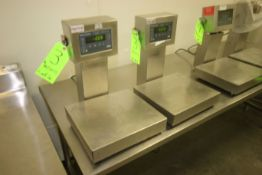 "Weigh-Tronix S/S Platform Scales, M/N QC-3265, with Aprox. 13-1/2"" L x 12"" W S/S Platforms, 115"