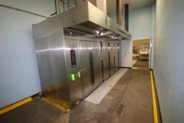 BULK BID INCLUDES LOTS 46-48: (1) HOBART S/S SINGLE ROTATING RACK NATURAL GAS OVEN, & (2) BAXTER S/S