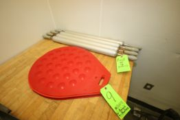 "Dough Press Plates, with Aprox. 1-7/8"" Dia. Circles on Surface of Plates, with (4) S/S Rollers ("