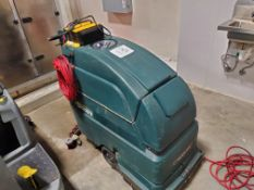 NOBLES Floor Scrubber, Model 2401, Battery powered. Charger attached to machine NOTE Said to only