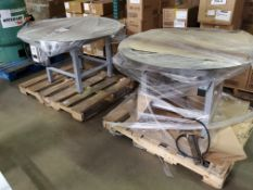 Lot of (2) RIGHT STUFF EQUIPMENT 48in Rotary Accumulator Tables, w. KB Genesis Numeric Control