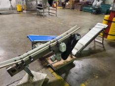 Lot of (3) Self Contained Powered Conveyors, Model QMC-1016452 5in x 72in. Genesis KBDA Didgital