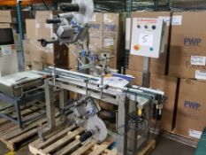 AUTOMATIX Pressure Sensitive Labeler, Model AC-720, S/N 1255, dom. 2007, (2) HERMA H400 16