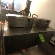 "2013 AXON DUAL STAGE HEAT SHRINK TUNNEL, MODEL EZ-48BRW, S/N G-1307202 A&B, 48"" L X 16"" W APERTURE"