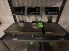 (3) METTLER TOLEDO S/S COUNTERTOP SCALES, LOAD CELL MODEL PBA430, W/ DIGITAL READOUTS MODEL ICS689-