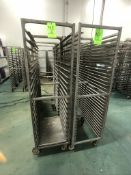 NEWAGE INDUSTRIAL (3) ALUMMINUM END LOAD 20-PAN PORTABLE SHEET/PAN RACK, 3'' SPACE (APPX $450