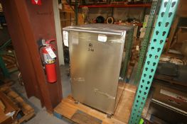 """S/S Pasta Machine Change Parts Cabinet, Overall Dims.: Aprox. 36"""" L x 28"""" W x 46"""" H, with"""