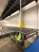 S/S ROLLER CONVEYOR WITHOUT MOUNTS, (1) SPANTECH, MULTISPAN, INCLINE / 90 DEGREE TURN CONVEYOR W/