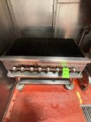 JADE GRILL MOUNTED ON PORTABLE S/S TABLE (LOAD & RIG FEE $300.00 - OPTIONAL PALLETIZING, SKIDDING OR