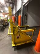 MTC PORTABLE FORK LIFT BATTERY TRANSPORT CART, MODEL BT-24-11L, S/N S-20001 (LOAD & RIG FEE $100.