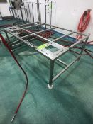 S/S TABLE (NO CUTTING BOARD TOP) APPX DIM. LWH'' 72 X 48 X 28 (LOAD & RIG FEE $75.00 - OPTIONAL