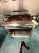 JADE 6-BURNER RANGE, MODEL JTRH-6 (LOAD & RIG FEE $135.00 - OPTIONAL PALLETIZING, SKIDDING OR