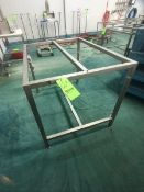 S/S TABLE/BASE, NO TOP, APPX DIM. LWH'' 48 X 36 X 36 (LOAD & RIG FEE $50.00 - OPTIONAL