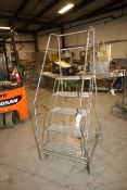 """5-Step Portable Stairs, Overall Dims.: Aprox. 35"""" L x 28"""" W x 75"""" Tall, Mounted on Portable Frame"""