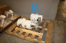 """Fristam 7.5 hp Centrifugal Pump, S/N 354170617, with Aprox. 2-1/2"""" x 3"""" Clamp Type Inlet/Outlet,"""