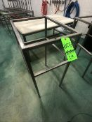 (2) S/S TABLE/BASE, NO TOP, APPX DIM. LWH'' 24 X 18 X 40 (LOAD & RIG FEE $45.00 - OPTIONAL