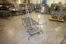 """1-Step 500 lb. Capactiy Portable Platform Stairs, Overall Dims.: Aprox. 63"""" L x 36"""" W x 56"""" H,"""