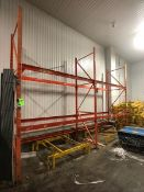 PALLET RACK, 2 SECTIONS (2 PALLET WIDE PER SECTION), APPX LWH'' 280 X 40 X 144 (LOAD & RIG FEE $