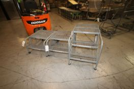 Cotterman Portable Platform Stairs, (1) 3-Step & (2) 2-Step, with Rear Wheels (INV#70558)
