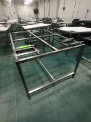 S/S TABLE (NO CUTTING BOARD TOP) APPX DIM. LWH'' 70 X 48 X 36 (LOAD & RIG FEE $75.00 - OPTIONAL