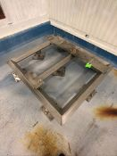 "S/S FRAME/ISOLATION BASE FOR HEINZEN SPIN DRYER / DEWATERING CENTRIFUGE WAY, APROX. DIM L 53"" X W"