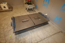 """Dock Ramps, Overall Dims.: Aprox. 77"""" L x 48"""" W, with Flip Up Fork Inserts in Middle of Ramp"""