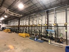 DRIVE-IN PALLET RACKING, 21-SECTIONS EACH 3-DEEP (LOAD & RIG FEE $3,950.00 - OPTIONAL PALLETIZING,