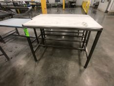 "(3) S/S TABLES L48"" X W24'', L60'' X W24'', L50'' X W29'' (LOAD & RIG FEE $75.00 - OPTIONAL"