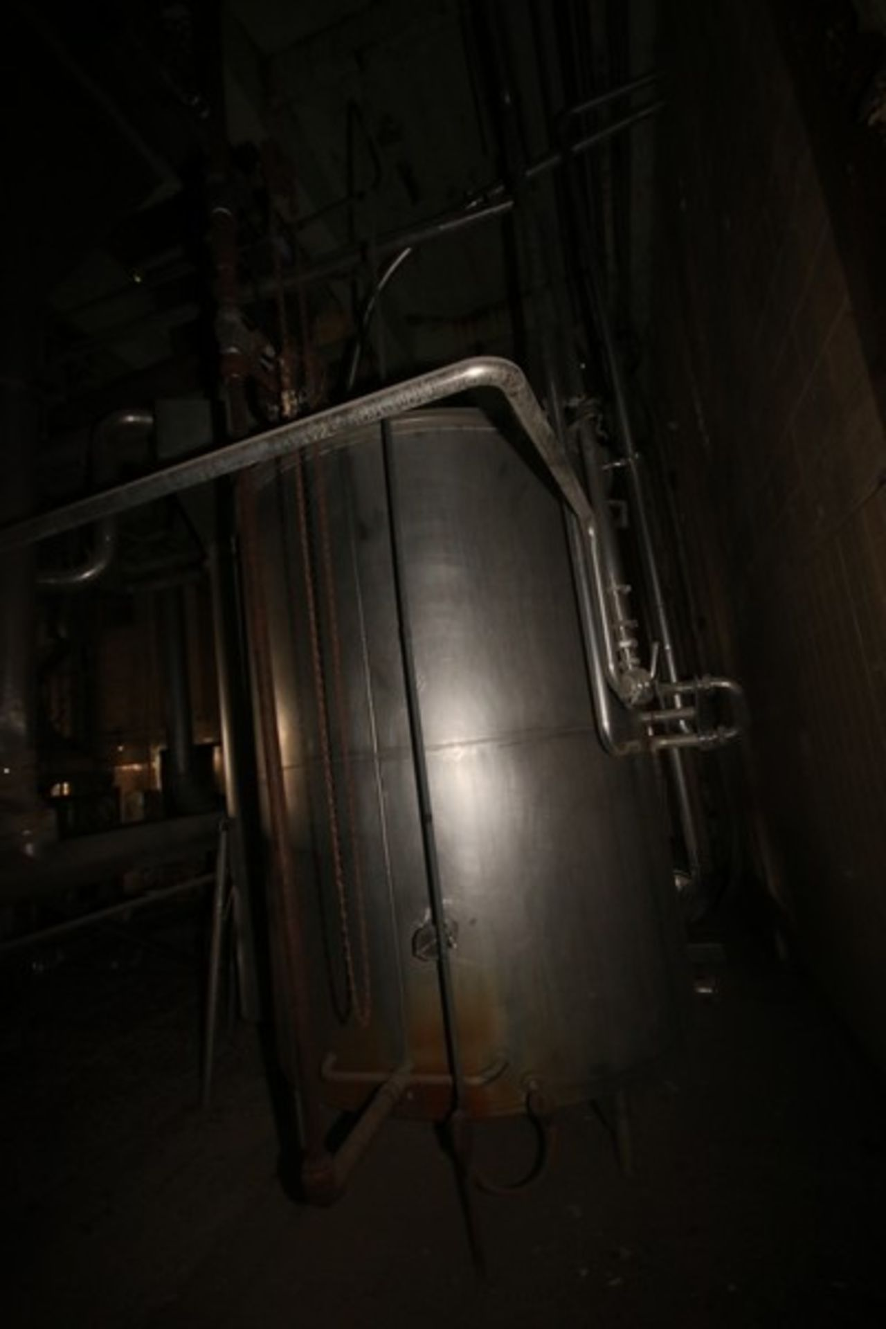 "Aprox. 1,500 Gal. S/S Single Wall Storage Tank, Tank Dims.: Aprox. 72"" Diameter x 92"" Straight Side, - Image 7 of 7"