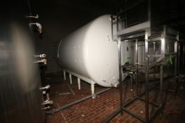 Creamery Package Aprox. 5,000 Gal. S/S Horizontal Tank, with Carbon Steel Sheathing, Tank Dims.: