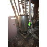 "Aprox. 85 Gal. S/S Tank, Tank Dims.: Aprox. 24"" Diameter x 33"" Straight Side (LOCATED IN Muenster,"