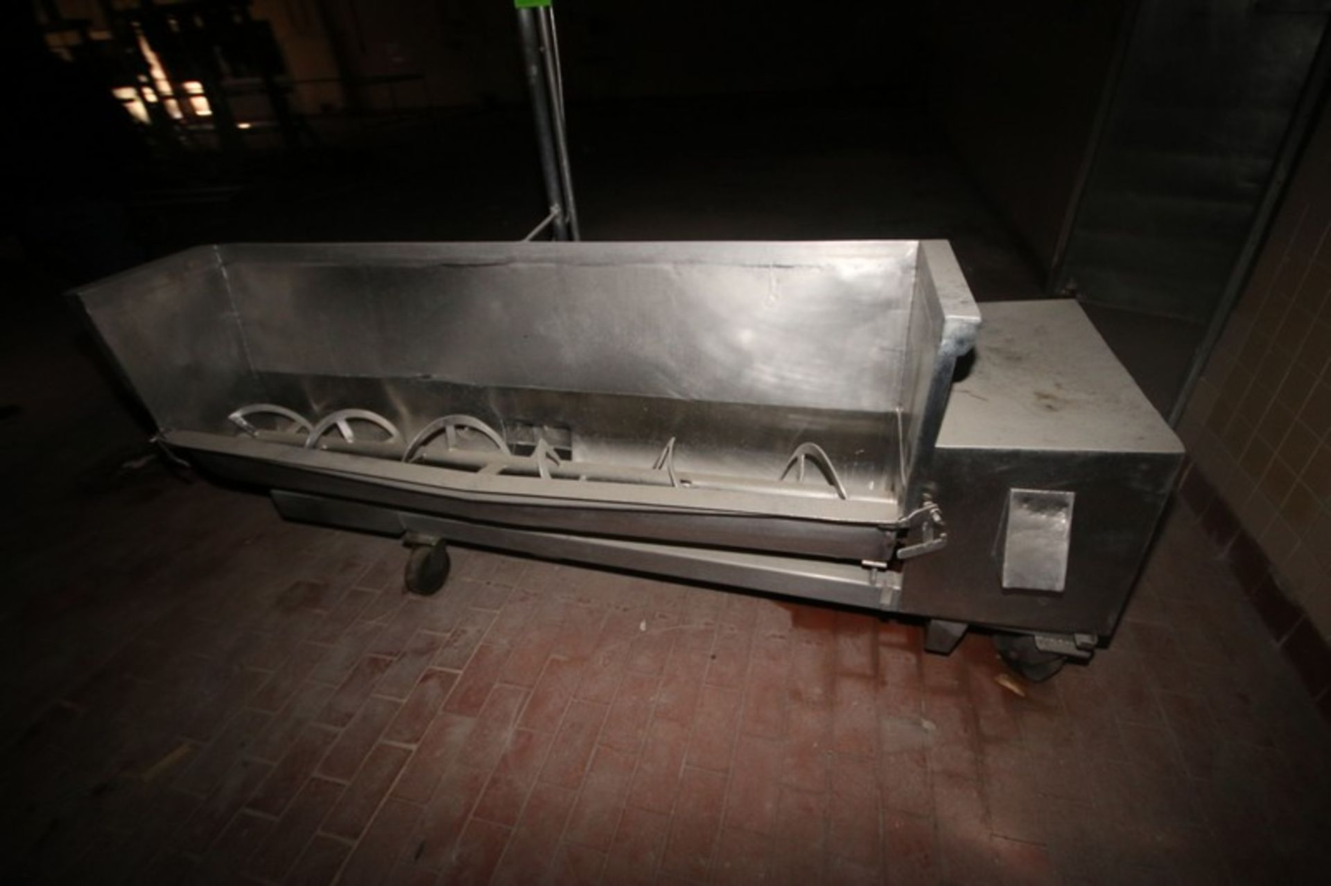"""S/S Curd Mixer, S/S Trough Dims.: Aprox. 9"""" Dia. x 72"""" L Ribbon Style Screw, Side Rotary Valve - Image 3 of 7"""