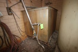 "Aprox. 700 Gal. S/S Rectangular Tank, Tank Dims.: Aprox. 72"" Wide x 48"" Long x 48"" Deep (LOCATED"