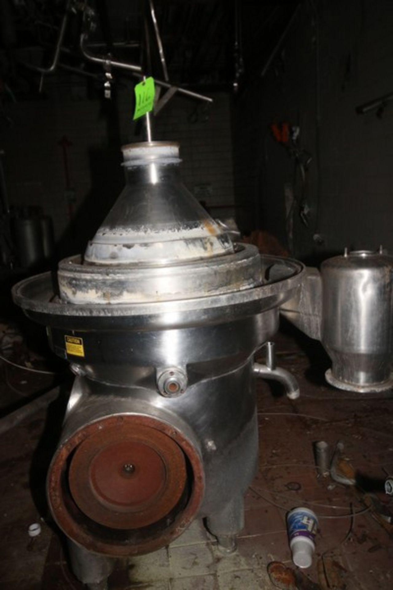 Westfalia Separator, with S/S Bowl, Bowl S/N 1644416 (NOTE: Parts Machine--See Photographs) (LOCATED - Image 7 of 8